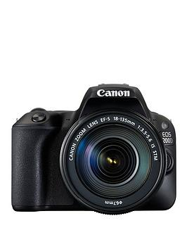 canon-eos-200d-slr-camera-in-black-with-18-135-is-stm-black-lens-242mp-30lcd-fhd