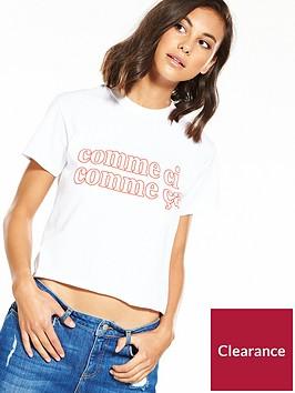 miss-selfridge-comme-ci-french-t-shirt-white