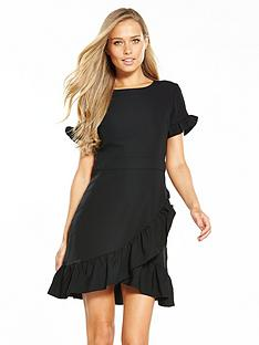 miss-selfridge-frill-hem-smart-dress-blacknbsp