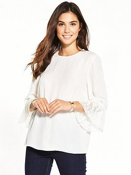 warehouse-lace-cuff-top-ndash-cream