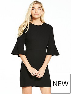 warehouse-flute-sleeve-dress