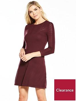 warehouse-pretty-stitch-yoke-dress-berry