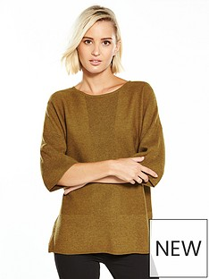 warehouse-rib-panel-boxy-tunic-mustard-marl
