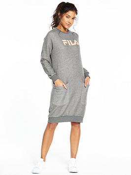 Fila Courtney Sweater Dress - Grey Marl