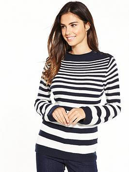 warehouse-graduated-stripe-button-jumper