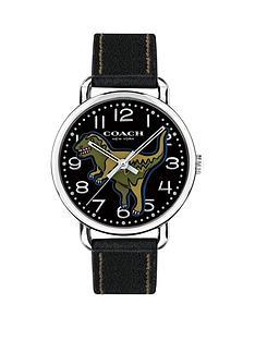 coach-coach-delancey-black-fine-sandblasted-round-dial-with-black-leather-strap-ladies-watch