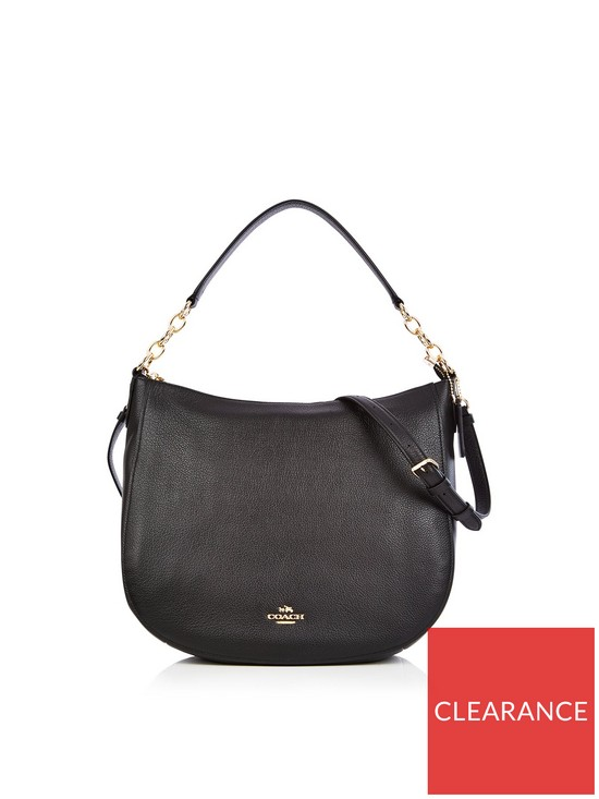 9b382a1fe COACH Chelsea 32 Hobo Bag- Black | very.co.uk