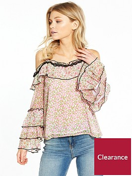 ri-petite-patchwork-frill-cold-shoulder-top