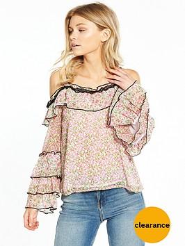 ri-petite-patchwork-frill-cold-shoulder-top
