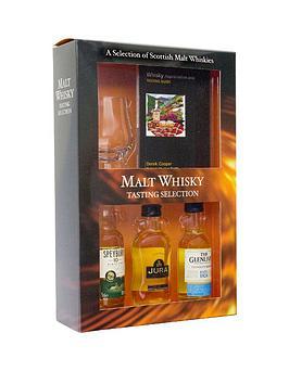 malt-whisky-tasting-set-with-3-whiskys-mini-glass-amp-book