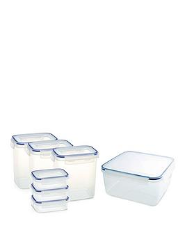 Addis Addis Clip &Amp; Close 7 Piece Baking Food Storage Containers Set, Clear Review thumbnail