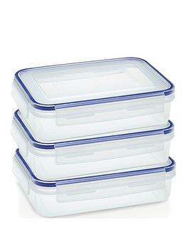 Addis Addis Clip &Amp; Close Set Of 3 X 1.1 Litre Food Storage Containers , Clear Review thumbnail
