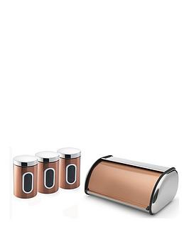 Addis Addis 4 Piece Copper Kitchen Storage Set, Copper Review thumbnail