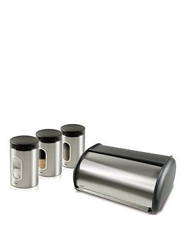 Addis Addis 4 Piece Stainless Steel Kitchen Storage Set, Stainless Steel Review thumbnail