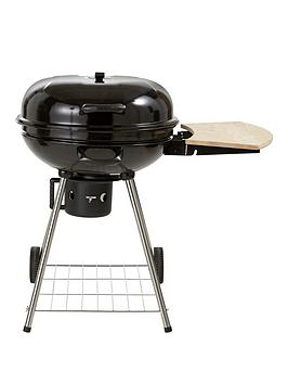 22 Inch Kettle Grill Charcoal Bbq With Side Table And Free Cover