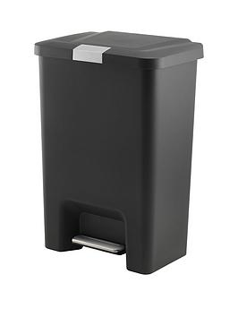 Addis Addis Premium 50 Litre Pedal Bin With Stainless Steel Locking, Black Review thumbnail