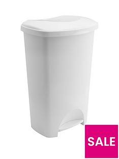 addis-50-litre-pedal-bin-in-white