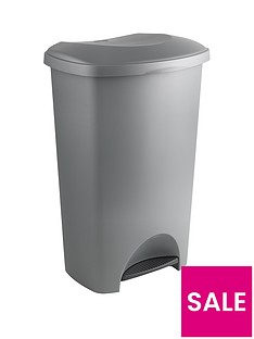 addis-50-litre-pedal-bin-in-metallic-silver