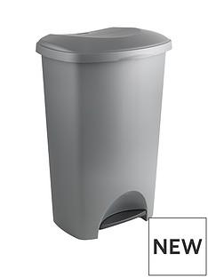 addis-addis-50-litre-pedal-bin-silver-metallic