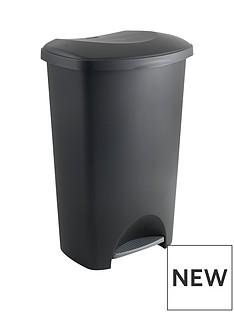 addis-50-litre-pedal-bin-black