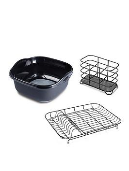 Addis Addis Premium Washing Up 3Pcs Set With Wireware, Black Grey Review thumbnail