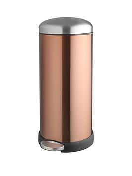 Addis Addis 30 Litre Retro Soft Close Metal Pedal Bin, Copper Colour Review thumbnail