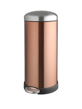 Addis Addis 30 Litre Retro Soft Close Metal Pedal Bin, Copper Colour Review thumbnail