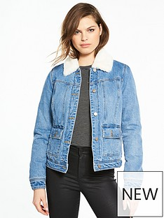 v-by-very-faux-fur-lined-denim-jacket