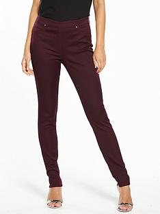 wallis-tinseltown-side-zip-skinny-trouser-berry