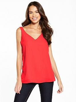 wallis-v-neck-cami-red