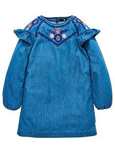 v-by-very-girls-denim-embroidered-smock-dress