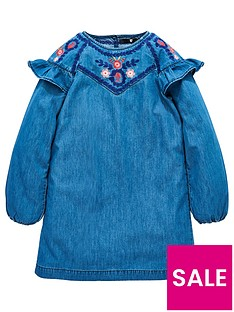 v-by-very-girls-denim-embroidered-smock-dress