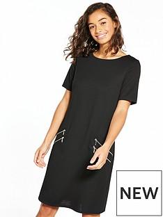 wallis-wallis-petite-zip-front-ponte-dress
