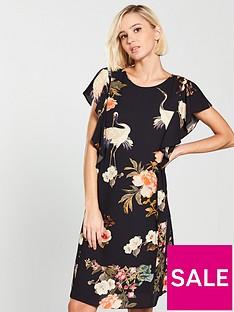 wallis-oriental-bird-frill-dress