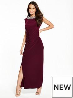 wallis-moon-trim-maxi-dress-burgundy