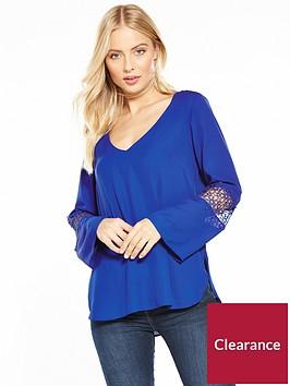 wallis-crochet-insert-sleeve-blouse