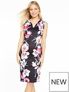 wallis-digi-floral-scuba-dress