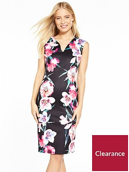 wallis-digi-floral-scuba-dress