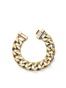 Tommy Hilfiger TOMMY HILFIGER LADIES GOLD IP STAINLESS STEEL BRACELET, One Colour, Women thumbnail