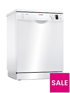 Bosch Serie 2 SMS25AW00G 12-Place Full Size Dishwasher with ActiveWater™ Technology - White
