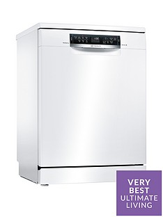 Bosch Serie 6 SMS67MW00G 14-Place Full Size Dishwasher with PerfectDry Technology - White