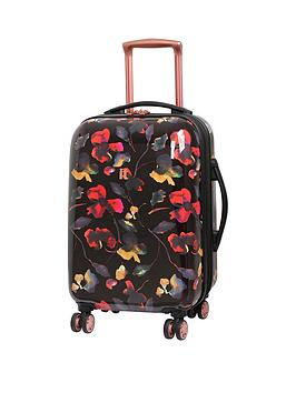 It Luggage Rose Gold Floral 8-Wheel Cabin Case