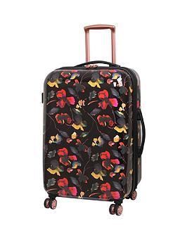 it-luggage-rose-gold-floral-8-wheel-medium-case