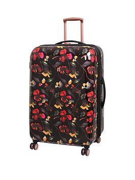 It Luggage Rose Gold Floral 8-Wheel Large Case