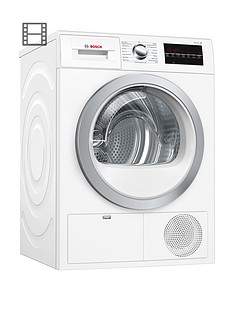 Bosch Serie 6 WTG86402GB 8kg Load Condenser Tumble Dryer with Allergy+ Programme - White Best Price, Cheapest Prices