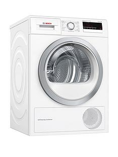 Bosch Serie 4 WTM85230GB 8kg Tumble Dryer with Heat Pump Technology - White Best Price, Cheapest Prices