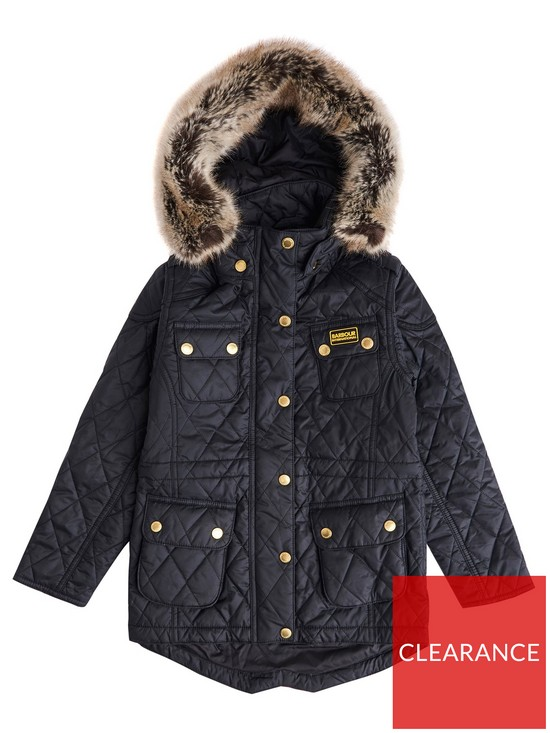 d1539b18b0417 Barbour Girls International Enduro Quilted Jacket
