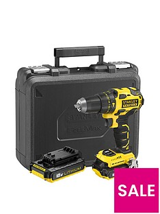 stanley-fatmax-stanley-fatmax-brushless-18v-combi-drill-2-x2ah-lithium-batteries-plus-kitbox
