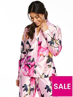 b-by-ted-baker-citrus-bloom-revere-satin-pyjama-top-nude