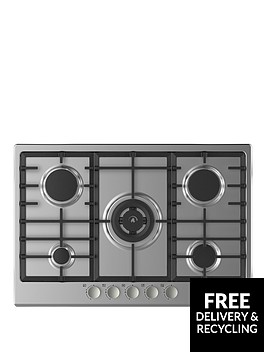 hoover-hgh75swcex-built-in-75cm-gas-hob-stainless-steel